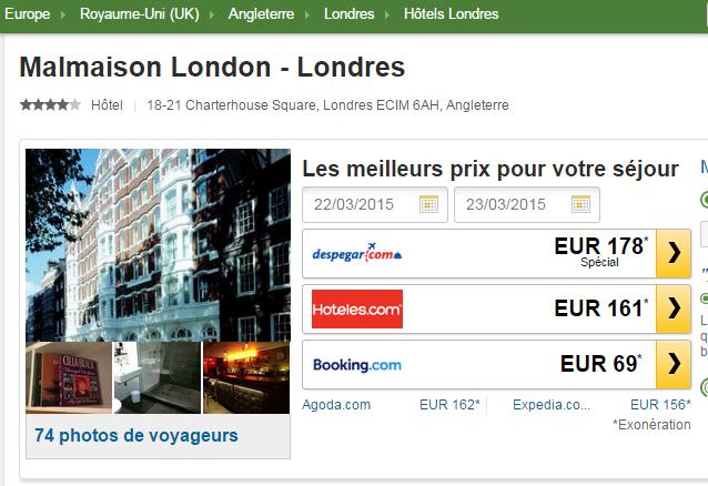 Malmaison Londres