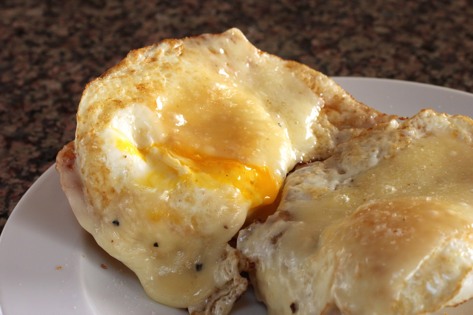 Fried egg sandwich with truffles