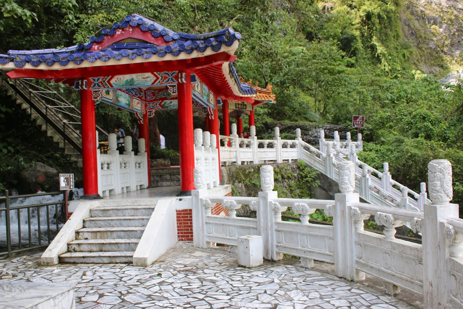 Beautiful pavilion at the Eternal Spring Shrine at Taroko Gorge National Park in Hualien, Taiwan