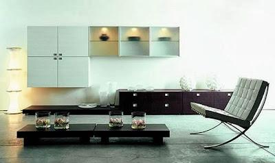 estilo minimalista pintura y madera