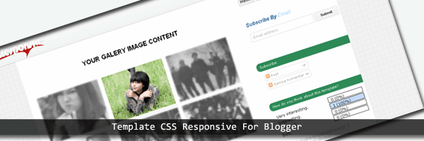 Responsive template blogger