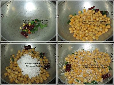 Chickpeas Coconut Sundal | Konda Kadalai Thengai Sundal | கொண்டைக்கடலை தேங்காய் சுண்டல்