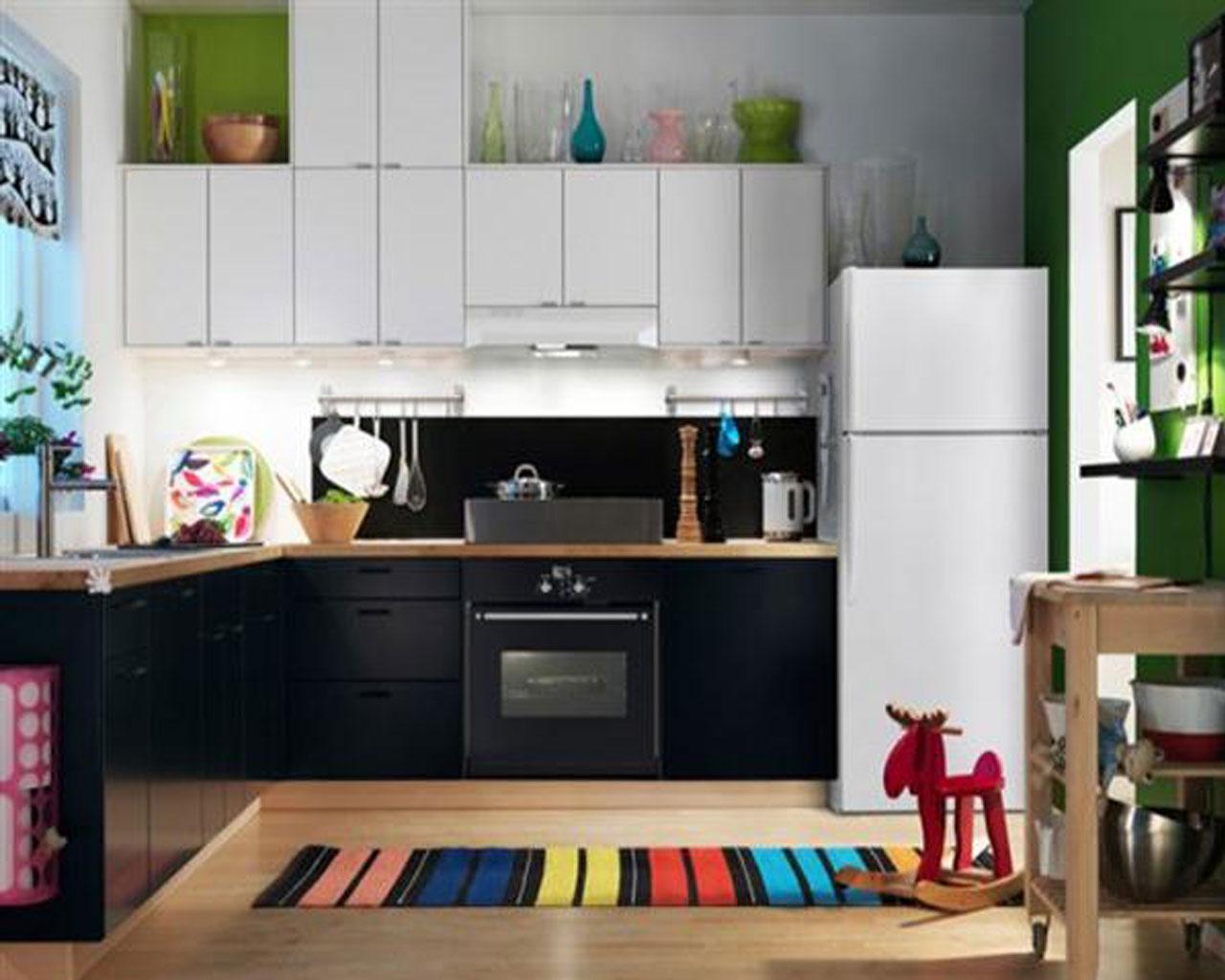 Ikea Modern Kitchen Cabinets Colorful