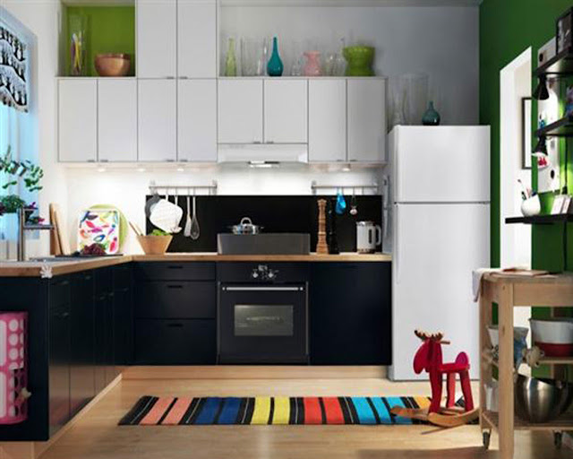 Ikea Modern Kitchen Cabinets Colorful