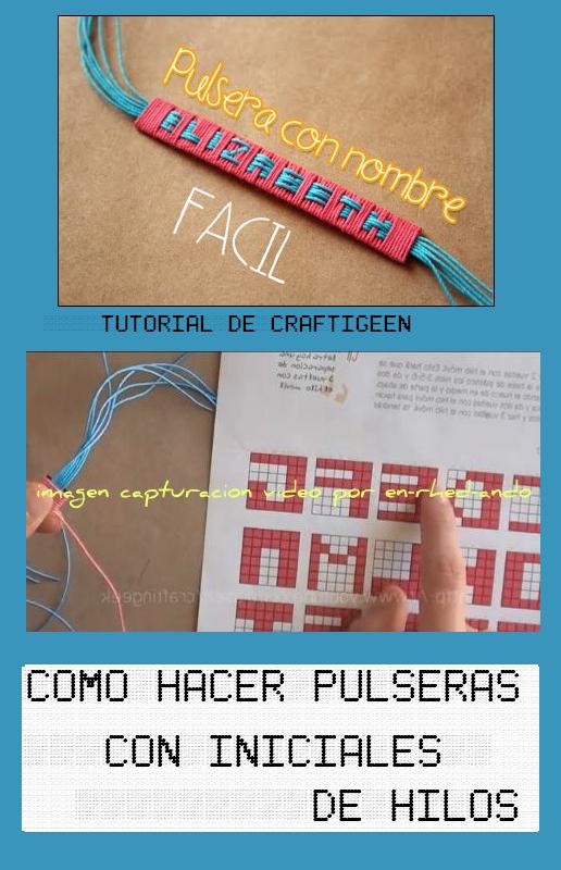 hacer pulseras con hilos: