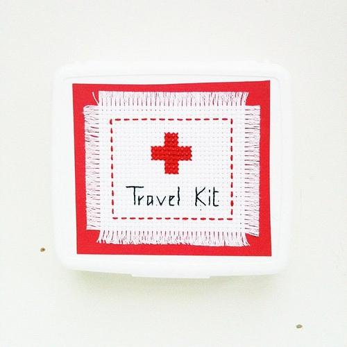 DIY+Cross+Stitch+Mini+Travel+First+Aid+Kit DIY Mini Box First Aid Kit with Cross Stitch Cover