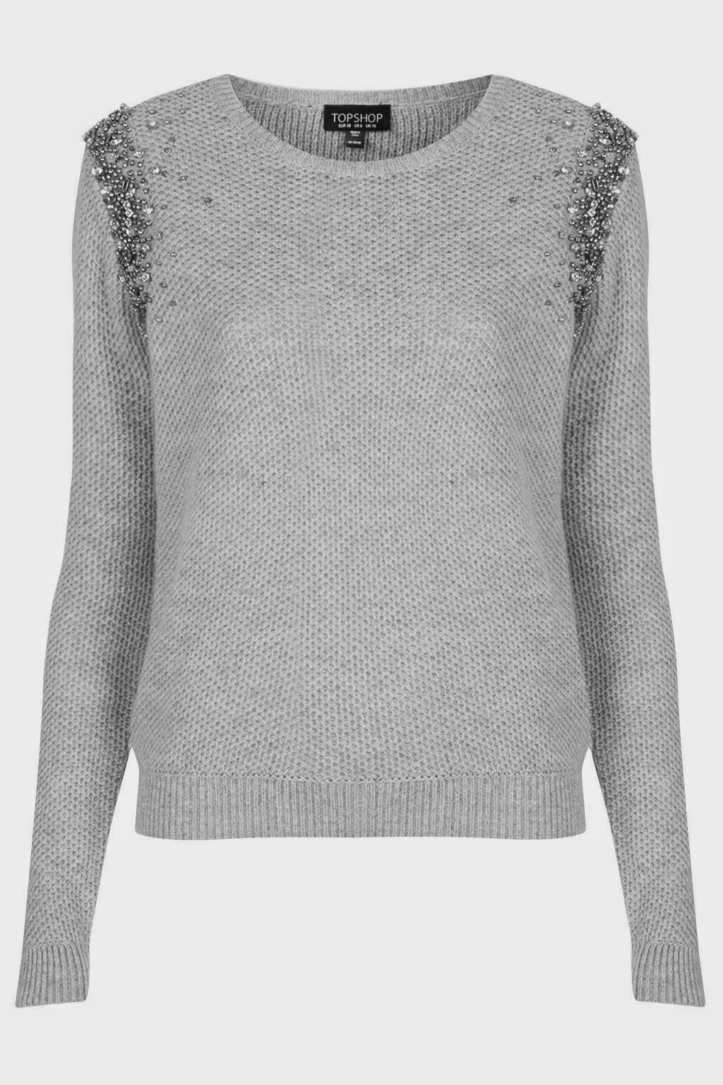 grey sparkly jumper