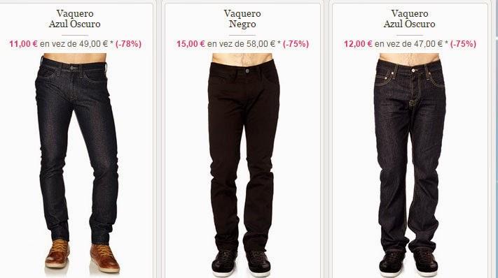 Ejemplos de pantalones vaqueros que puedes comprar desde 11 euros.