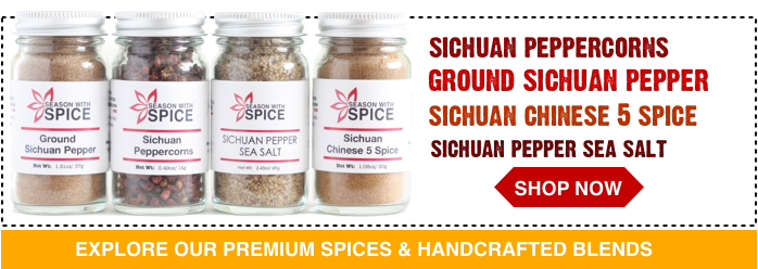 buy ground sichuan pepper, szechuan peppercorns, sichuan pepper sea salt available at season with spice asian spice shop