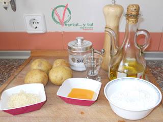 Ingredientes para los ñoqui.