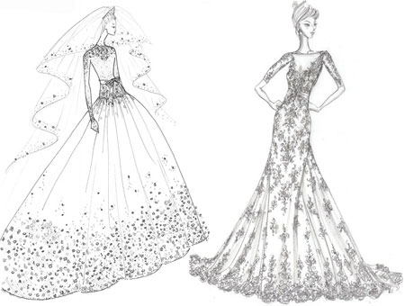kate middleton wedding dresses