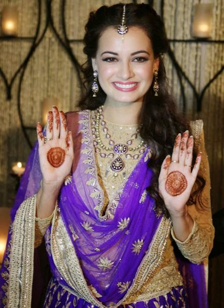dia mirza hot wedding pics