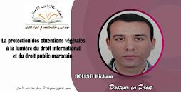 La protection des obtentions végétales à la lumière du droit international et du droit public maroc