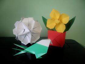 origami decor de primavara