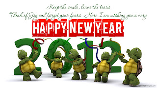 Free Download Happy New Year 2012 Turtles Wallpaper
