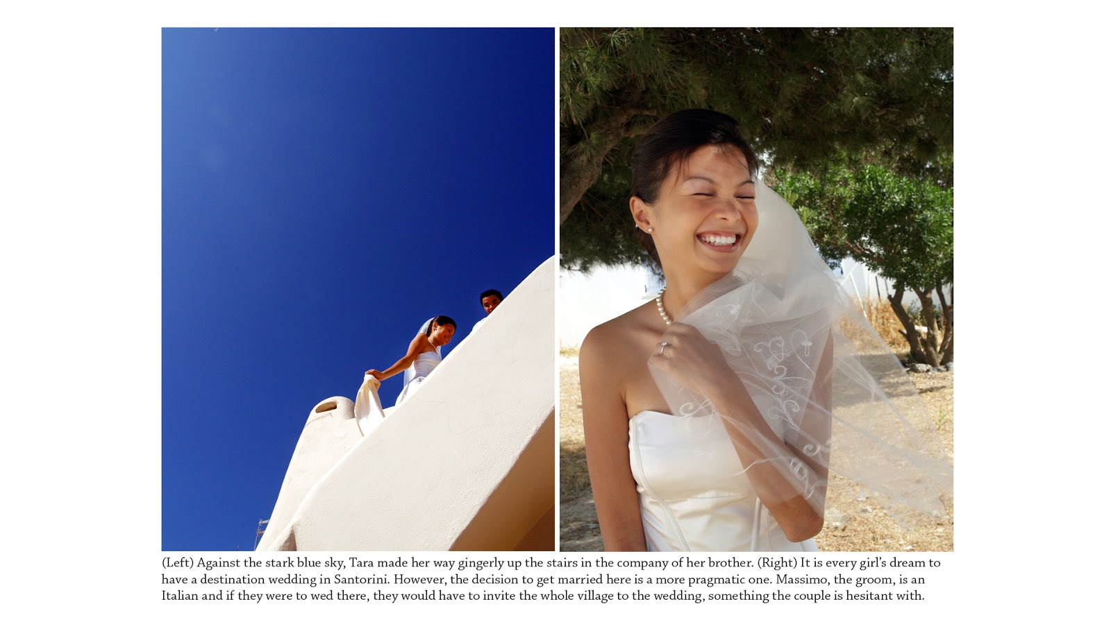 wedding photography singapore santorini bride