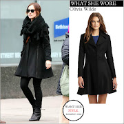 WHAT SHE WORE: black Rag & Bone wool coat, black skinny jeans and black .