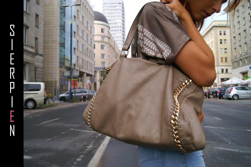 beżowa torba