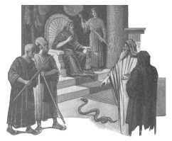 Moses and Aaron's rod into serpent LDS