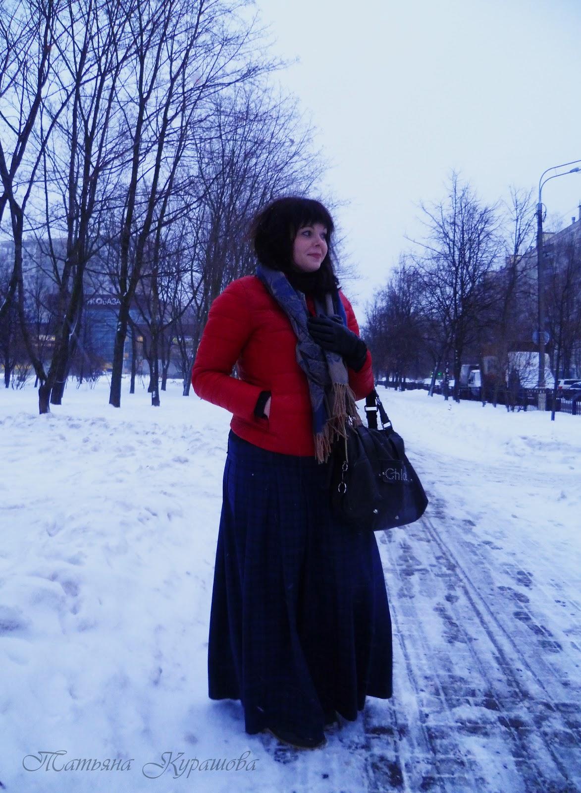 Татьяна Курашова. Длинная юбка на кокетке.
