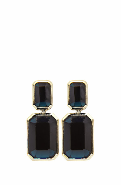 dark blue earrings