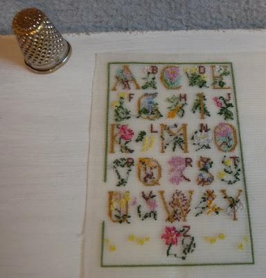 Abécédaire,Fleur,Broderie,Miniature