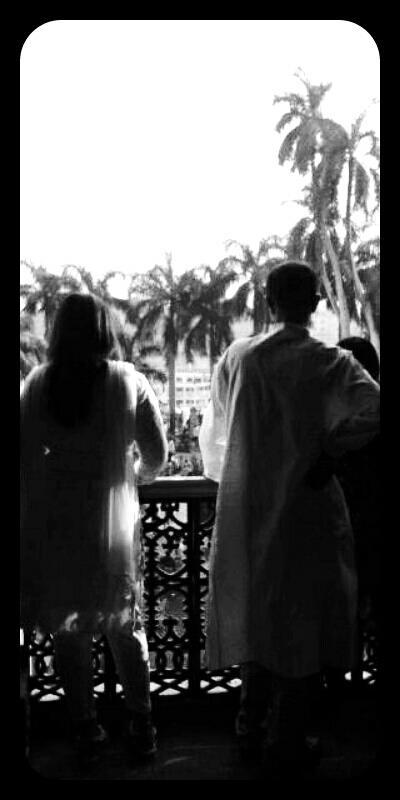 travel, Couple inside Ahsan Manzil, Dhaka, Bangladesh