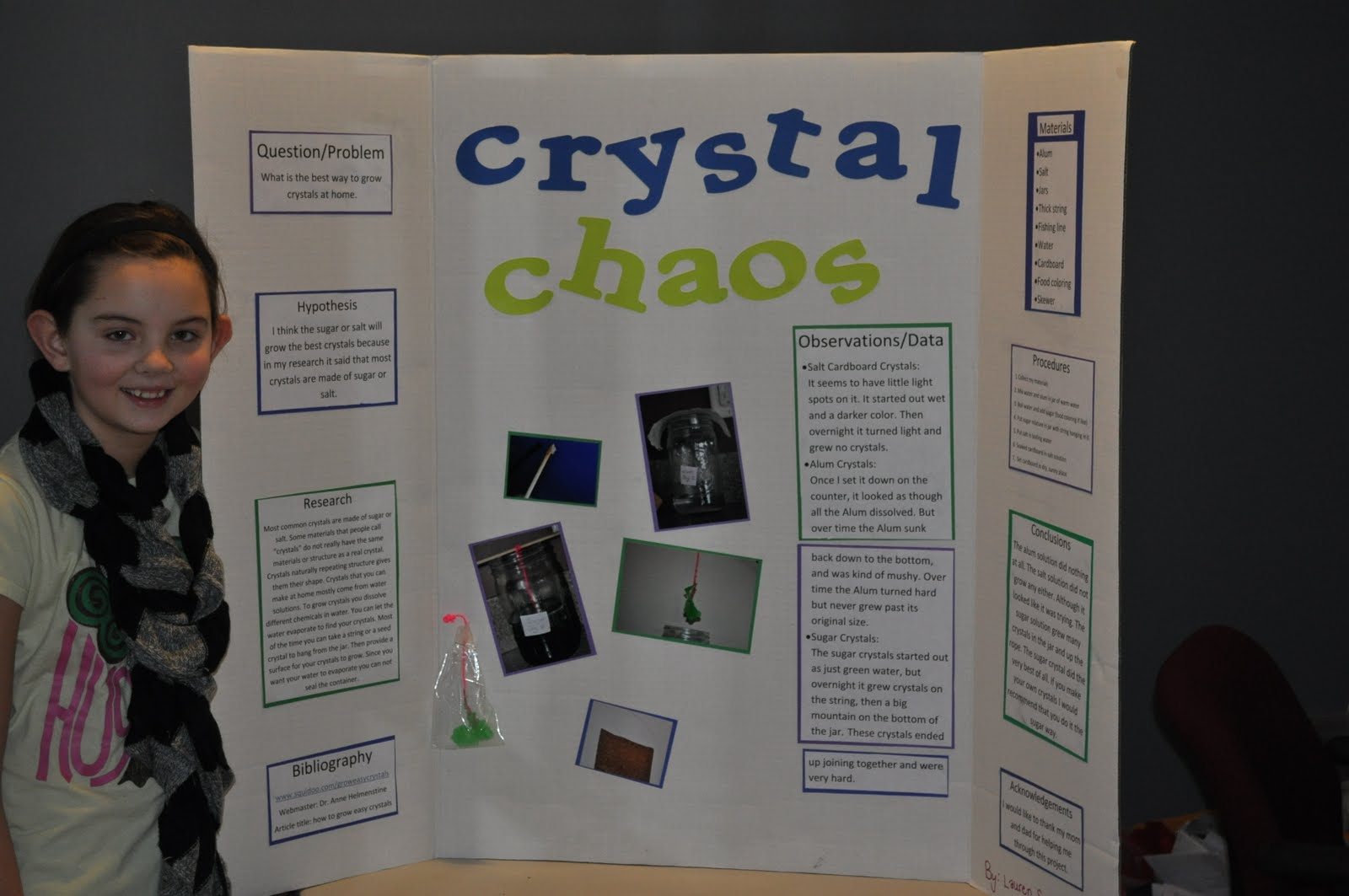 sugar crystal science fair project Creating crystals of table- or epsom salt or sugar can be an excellent idea for your next science fair project the process is simple and needs minimum adult supervision.