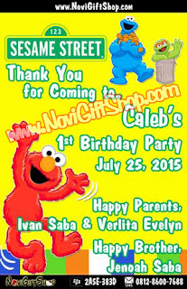 Thank Card Elmo Sesame Stre Sample Tema Design Thanks Card (Kartu Ucapan Terima Kasih)
