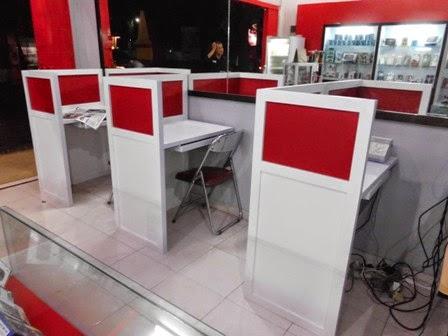 Meja Sekat Untuk Warnet - Semarang