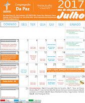 Calendário de Julho