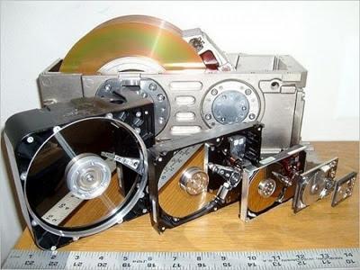 evolução do tamanho do disco rígido ao longo dos anos