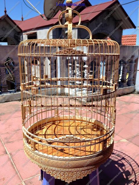 Lồng chim chào mào trúc già triện kỹ CM092