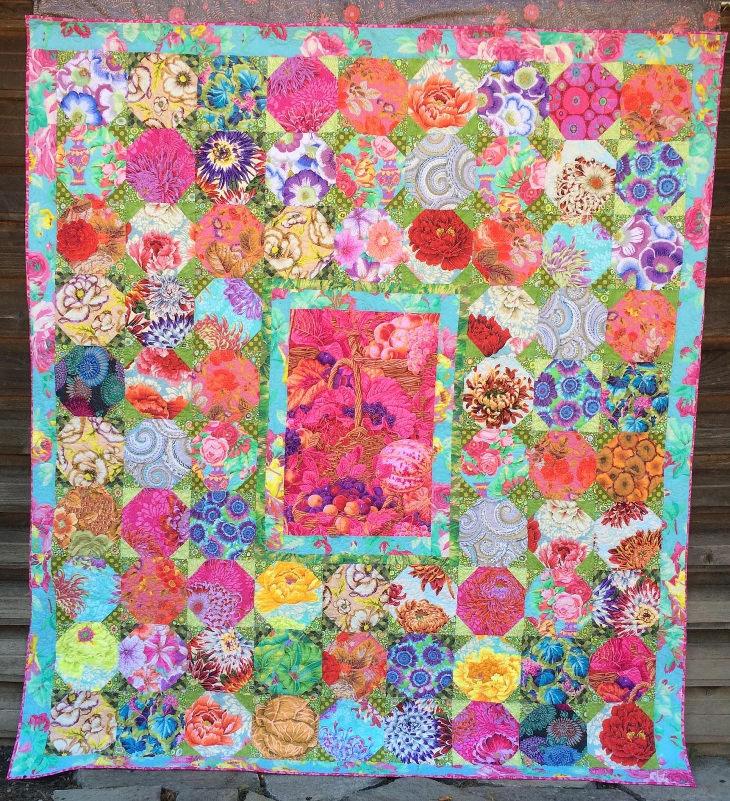 Quilt Patterns Snowball Block : Summer s Snippets: Snowball Quilt design by Kaffe Fassett