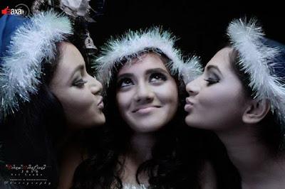 Dinakshie , Sheshadrie and Shanudri Sexy Xmas