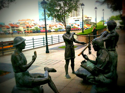 sculptures, Singapore River, Destination Character