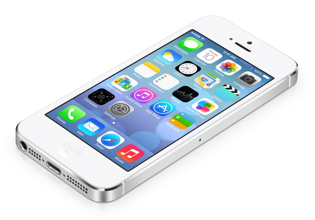 iPhone 5S rodando iOS7 - Fonte/Reprodução: The Verge
