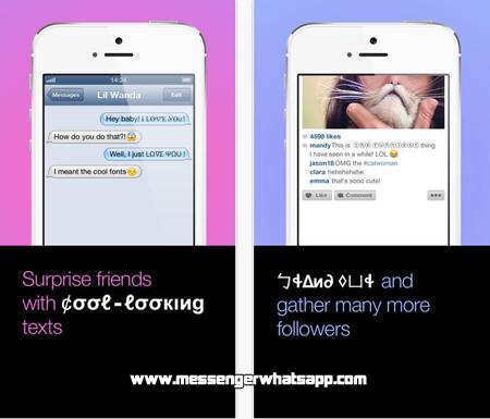 Convierte tus textos de chats con Fontsy para WhatsApp