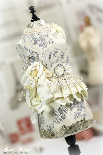 Upcycle papier mache Hobbycraft dressform