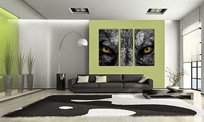 3 Posters As Cat Eyes   Living Room Wall Art Part 48
