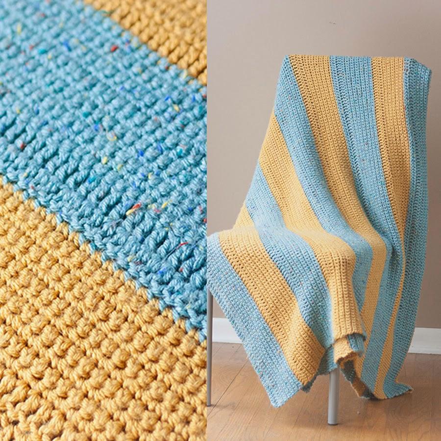 Crochet Stitches Beginners Blankets : Easy Beginner Crochet Blanket Pattern MARGO KNITS