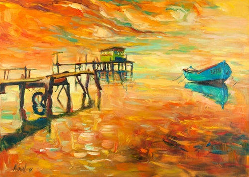 13-Ivailo Nikolovhas-Bright-Paintings-Modern-Impressionism-www-designstack-co
