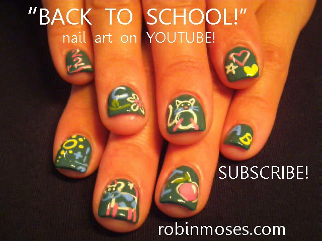 Robin moses nail art back to school nails easy back to school nail art tutorials cute diy nail art tutorial designs prinsesfo Gallery
