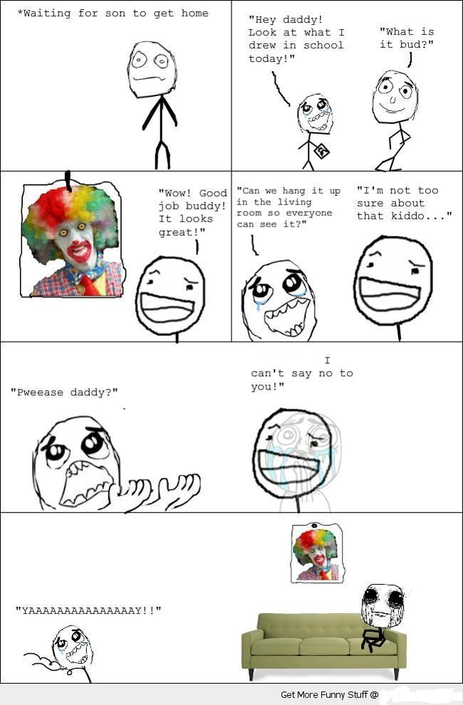 Funny Meme Rage Comics : Funny d scary clown rage comic