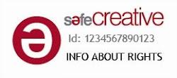 Mis creaciones están registradas bajo licencia Safe Creative