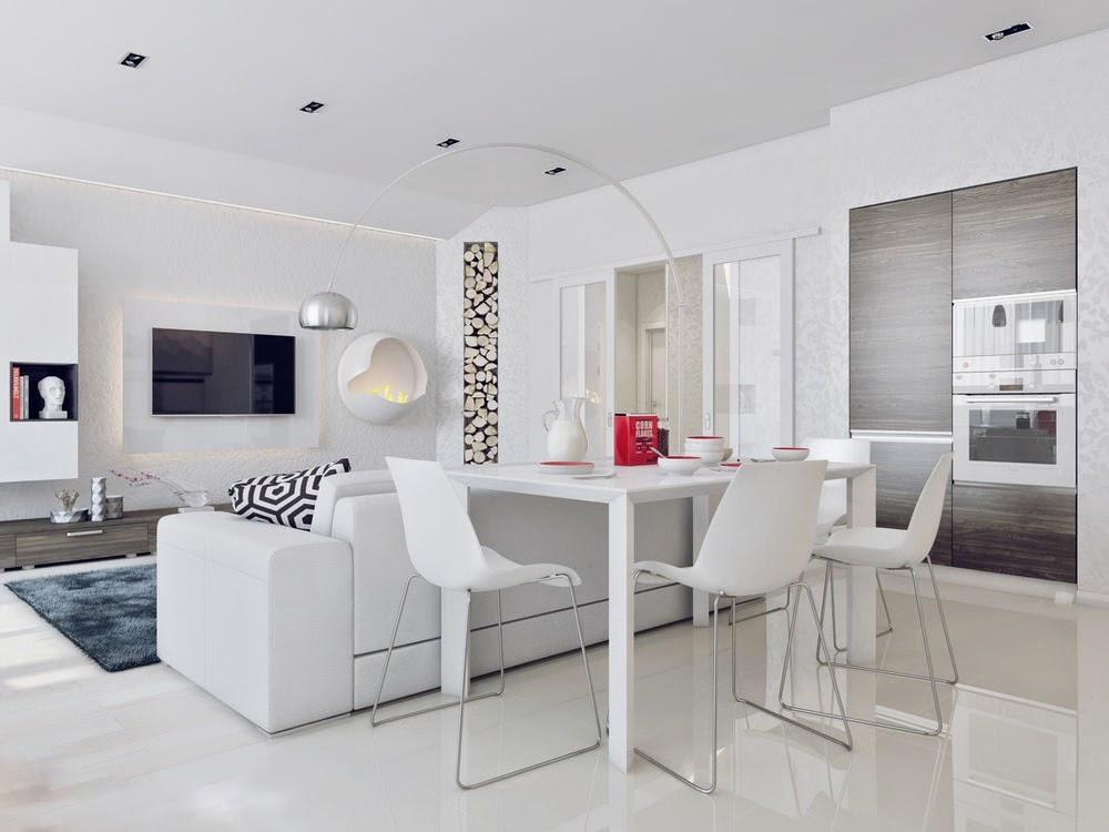 Un angolo di design total white o no for Arredamento total white