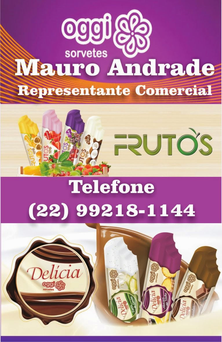 Oggi Sorvetes Mauro Andrade representante comercial