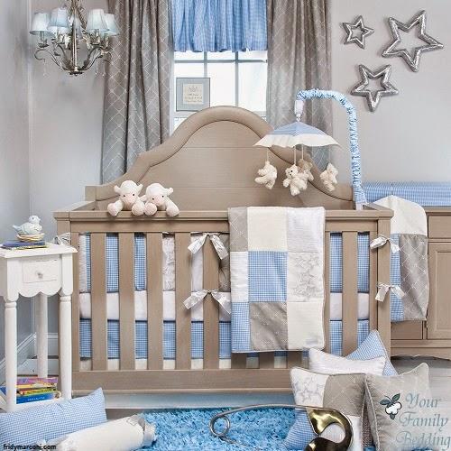 Une magnifique Déco bébé gris et bleu