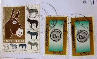 francobollo razze italiane asini