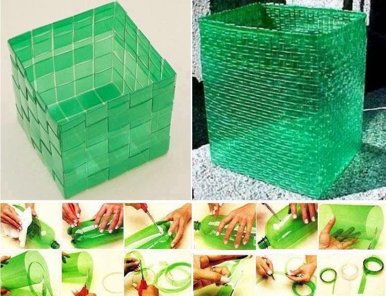Eccezionale Vanitosa-mente Homemade: Un cesto da bottiglie di plastica! VY93